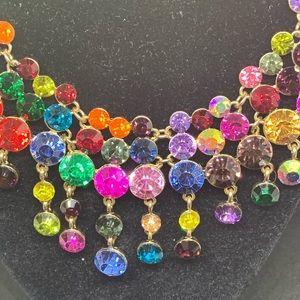 Natasha Jewelry - Natasha Colorful Crystal Necklace [JW-110]